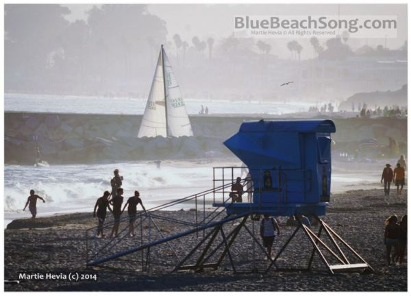 Twin Bridges Lifeguard House & Sailboat II © Martie Hevia